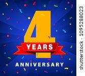 4 years anniversary celebration ... | Shutterstock .eps vector #1095288023
