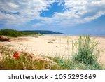 estuary of river kamchia  black ... | Shutterstock . vector #1095293669
