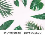 summer composition. green... | Shutterstock . vector #1095301670