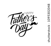 happy father's day calligraphic ... | Shutterstock .eps vector #1095302048