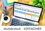 front end developer   your next ... | Shutterstock . vector #1095302489