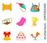 girl entertainment icons set.... | Shutterstock . vector #1095303200