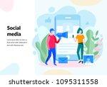 social media concept for web... | Shutterstock .eps vector #1095311558