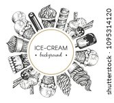 vector ftame with graphic ice... | Shutterstock .eps vector #1095314120