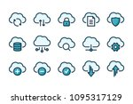 computer cloud related color... | Shutterstock .eps vector #1095317129