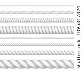 realistic 3d white detailed... | Shutterstock .eps vector #1095317324