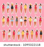 summer people on the beach.... | Shutterstock .eps vector #1095322118