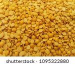 the toor dal  split pigeon pea  ... | Shutterstock . vector #1095322880