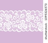 vector seamless pattern lacy... | Shutterstock .eps vector #1095326573