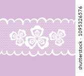 vector seamless pattern lacy... | Shutterstock .eps vector #1095326576