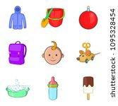 parenthood icons set. cartoon... | Shutterstock . vector #1095328454