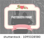 shabby chic style photobooth... | Shutterstock .eps vector #1095328580