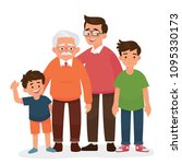 vector illustration of man four ... | Shutterstock .eps vector #1095330173