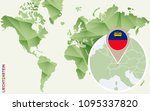 liechtenstein  detailed map of... | Shutterstock . vector #1095337820