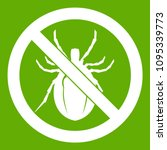 no bug sign icon white isolated ... | Shutterstock . vector #1095339773