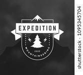 mountains logo design vector... | Shutterstock .eps vector #1095345704
