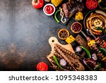 assortment various barbecue... | Shutterstock . vector #1095348383