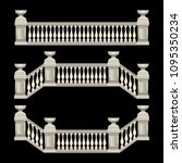 stucco railings  marble  stone  ... | Shutterstock .eps vector #1095350234