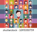 football player avatars | Shutterstock .eps vector #1095350759