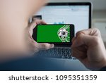 live broadcast sport channel ... | Shutterstock . vector #1095351359
