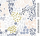 vector organic seamless... | Shutterstock .eps vector #1095353120