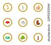 typical vietnam icons set....   Shutterstock . vector #1095355544