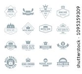 crown royal logo icons set.... | Shutterstock . vector #1095359309