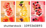labels of fruit and berries... | Shutterstock .eps vector #1095360893