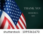 some american flags and the... | Shutterstock . vector #1095361670