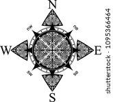 compass design tattoo | Shutterstock .eps vector #1095366464