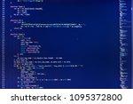 programming code. programming... | Shutterstock . vector #1095372800