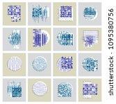 abstract vector backgrounds set ... | Shutterstock .eps vector #1095380756