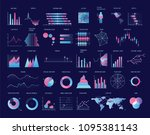 collection of colorful charts ... | Shutterstock .eps vector #1095381143