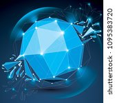 vector dimensional wireframe... | Shutterstock .eps vector #1095383720