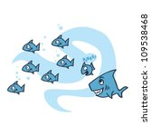 chasing fish | Shutterstock .eps vector #109538468