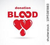 blood donation inscription... | Shutterstock .eps vector #1095385883
