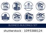 office building round shape...   Shutterstock .eps vector #1095388124