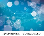 connected 3d mesh technology... | Shutterstock .eps vector #1095389150