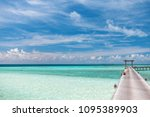 indian ocean paradise bridge | Shutterstock . vector #1095389903