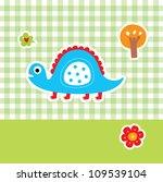cute dinosaur | Shutterstock .eps vector #109539104