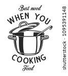 vintage monochrome kitchen... | Shutterstock .eps vector #1095391148