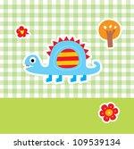 cute dinosaur | Shutterstock .eps vector #109539134