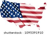 usa flag in the form of maps of ... | Shutterstock .eps vector #1095391910