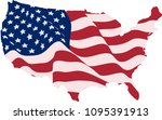usa flag in the form of maps of ... | Shutterstock .eps vector #1095391913