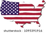 usa flag in the form of maps of ...   Shutterstock .eps vector #1095391916