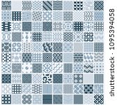 collection of vector abstract... | Shutterstock .eps vector #1095394058