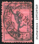 uruguay   circa 1922  stamp... | Shutterstock . vector #109539569