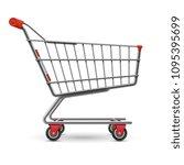 realistic empty supermarket... | Shutterstock .eps vector #1095395699