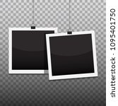 photo frame hanging on the... | Shutterstock .eps vector #1095401750