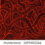 abstract wave red color outline ...   Shutterstock . vector #1095402266